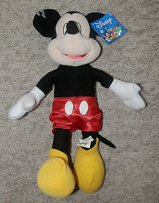 "disney mickey  Mouse Plush Doll 14"" with tag n tush tag too toy factory"