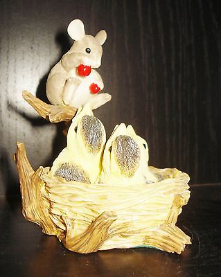 Vintage Charming Tails Mouse Figurine Beautiful Birds Design Nr
