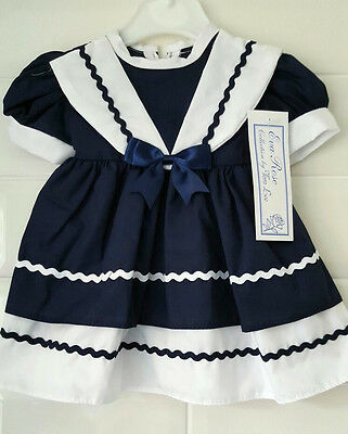 Eva Rose Navy Blue / White Sailor Dress from the Tara Lee Collection