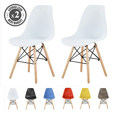 MCC® Plastic Designer Style Dining Chairs Eiffel Retro Lounge Office Chair LIA