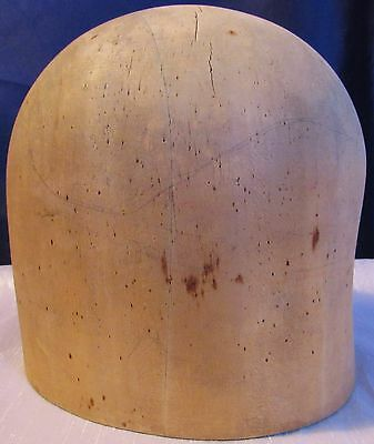 Vintage Wood Block Hat Mold Form Size 22 Millinery