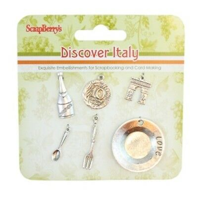 Scrap Berrys Charms SET Discover Italy, Embellishments,SCB25002028