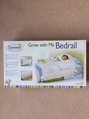 'Summer' Grow With Me Bedrail - White, New