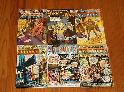 Our Army At War Comics With SGT Rock Set of 6 Comics