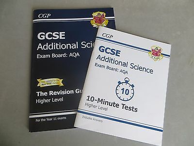 GCSE Additional Science AQA Revision Guide & 10minute tests: Higher by CGP Books