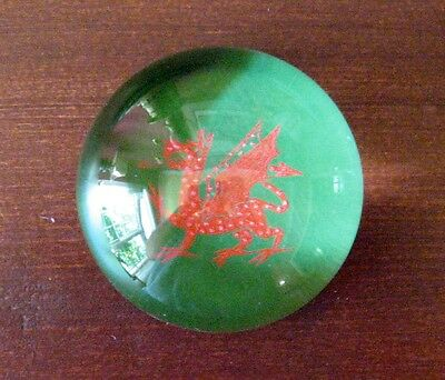 glass paperweight H.R.H the prince of wales carnarvon 1969 investiture dragon