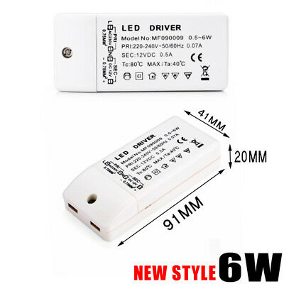 6W LED Driver 240V - DC 12V Power Supply Led Strip Transformers Adapter UK Post
