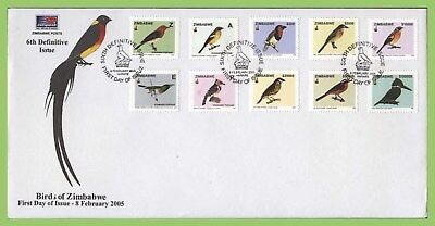 Zimbabwe 2005 Birds definitive set on First Day Cover