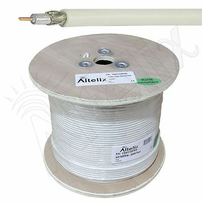Altelix AX195FRW LMR195 Type 50 Ohm White Riser Rated Coaxial Cable 500 Ft Reel