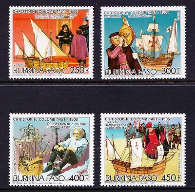 Burkina Faso 1986 Christopher Columbus (Explorer) - MNH set - Cat £9 - (8)