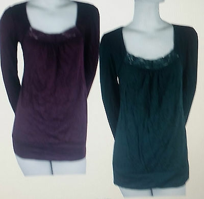 Lot Of Two Blouses Size Small  Wine And Green
