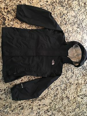 north face girls rain jacket, black size S