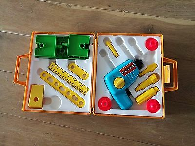 FISHER PRICE Vintage Tool Kit 924 @ Childs Play Set 1977 Working Toy