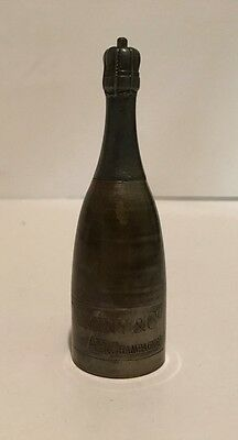 Antique Duminy & Co. Champagne Bottle Match Safe Push Button Opening 1877