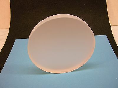 """Fused silica mirror blank; 4.68"""" diameter, by Dynasil Corp."""