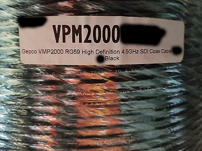 Gepco VPM2000 RG-59 4.5GHz 75Ohm Low-Loss Digital Video Coaxial Cable Blk/100ft