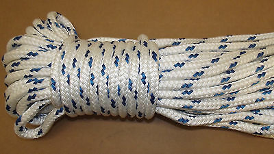 "NEW 7/16"" x 100' Double Braid Polyester Sail/Halyard Line, Jibsheets, Boat Rope"