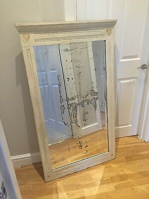 Large French painted antique mirror- 1900's