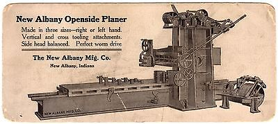 New Albany Manufacturing Co. Blotter New Albany IN Openside Planer Perfect Worm