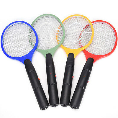 Hand Mosquito Killer Racket Electric Swatter Pest Control Insect Bug Repellent F