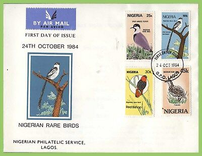 Nigeria 1984 Rare Birds set on First Day Cover