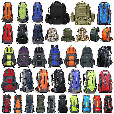 35~60L Outdoor Camping Travel Rucksack Backpack Climbing Hiking Bag Pack 38 Type