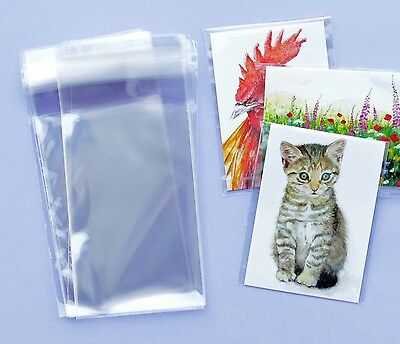 "20 Self seal cello bags 70mm x 110mm, great for 2.5"" x 3.5"" ATCs, ACEOs, sleeves"