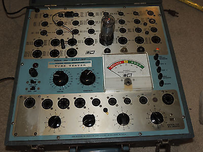 Nice Vintage B&K 707 Dyna Jet Tube Tester Tested and Working w/ Booklet