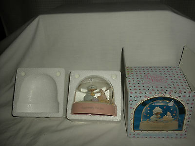 VTG Precious Moments EGGSPECIALLY FOR YOU Water Dome GLOBE 1990 w/Orig Box