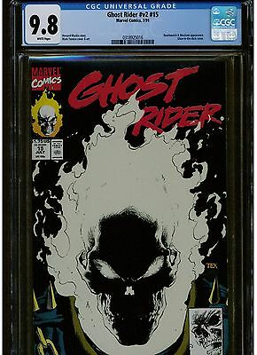 GHOST RIDER #15 CGC 9.8 WHITE PAGES 1991 1st printing GLOW IN THE DARK COVER