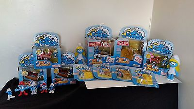 Vintage Toy Island The Smurfs 1996  Bundle Lot Collection New and used with box