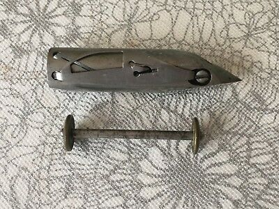 Antique New Home Treadle Sewing Machine Boat Shuttle And Bobbin