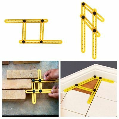 Slide Ruler Template Four-Sided Measuring Instruments Tool Angle-izer Mechanism