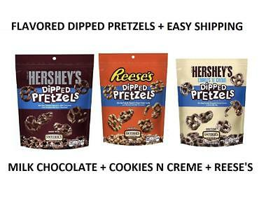 Snyders of Hanover Hershey + Reeses Covered Pretzel Cookies Creme Free Shipping