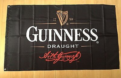 Guinness Draught Beer Flag 3x5 ft Indoor/Outdoor Banner