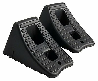 2 Pcs RV Wheel Chock Tire Mount Down Stand Trailer Motorcycle Stop Still Hold