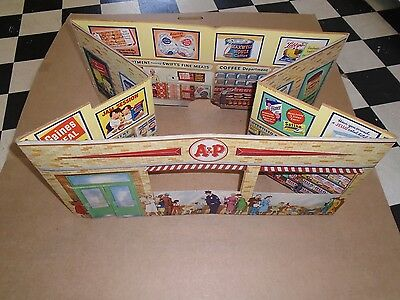 A & P STORE DIORAMA 1940s +- ERA VERY RARE ATLANTIC & PACIFIC ADVERTISING/TOY