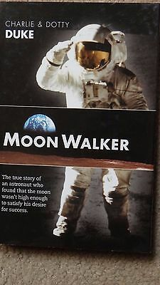 Apollo 16 Moonwalker Charlie Duke Autographed Book ASTRONAUT w/FLYER