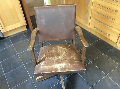 Vintage Office Desk Chair Industrial Swivel Chair  Great Original Condition