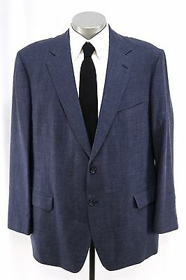 blue ALAN FLUSSER blazer jacket sport coat SILK LINEN bermuda breeze 44 46 R