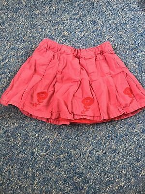 John Lewis Pink Floral Embroidered Skirt Baby Girls 12-18 Months Clothes