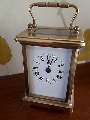 Antique 5 Glass French Carriage Clock Running For Light Tlc Platform Escapement