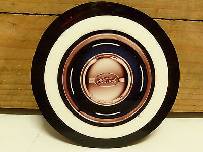 Ford Moon Rims - 95Mm Mdf/cork Beer Coaster Set Of 4