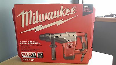 "Milwaukee 5317-21 1-9/16"" SDS-MAX Rotary Hammer Kit with Case - NEW"