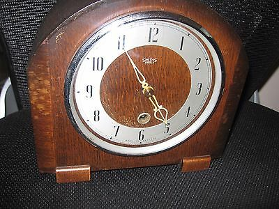 Vintage Smiths Enfield Clock  For Spares And Repairs With Original Key
