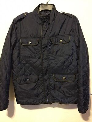 New Men's M Urban Republic Navy Blue Quilted Military-Like Jacket