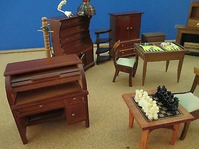 Large lot of antique vintage Dollhause Furniture
