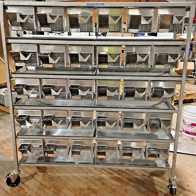 ALLENTOWN RODENT 30 Unit Lab Cage Mouse Rat Snake Reptile Stainless -CAN  SHIP