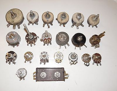 22 Piece Pre-Owned Estate Found Used Vintage Rheostats And Potentiometers