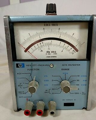 Hewlett Packard HP 427A Voltmeter Option 01  VOLTS